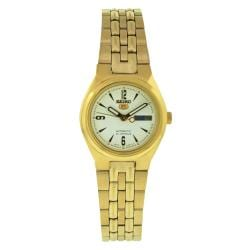 Seiko Women's 5 Automatic SYMA22K Gold Stainless-Steel Automatic Watch with White Dial
