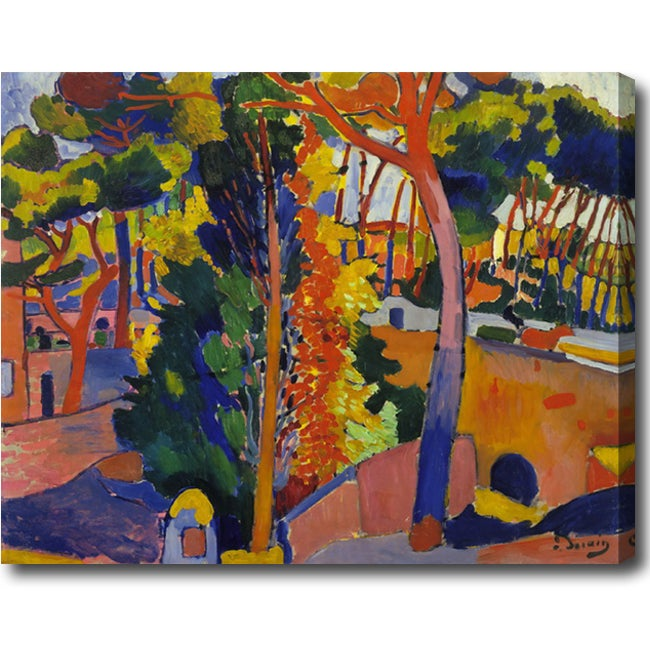 Andre Derain 'Bridge over the Riou' Abstract Hand-painted Oil on Canvas