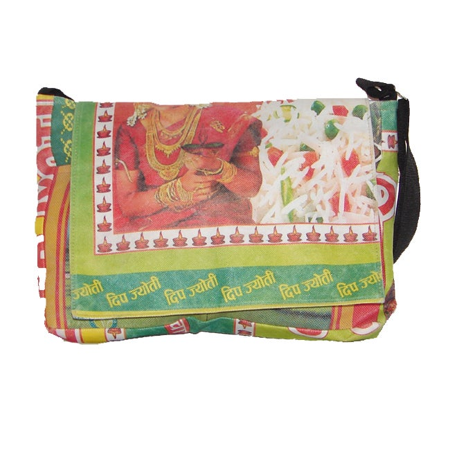 Recycled Plastic Shoulder Bag (Nepal)
