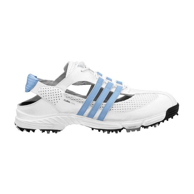 Adidas Women's CC Slingback 2.0 White/ Blue Golf Shoes