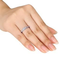 Miadora 14k White Gold 1/2ct TDW Princess Diamond Ring (H-I, I2-I3)