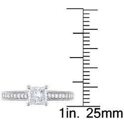 Miadora 14k White Gold 4/5ct TDW Diamond Ring (G-H, I1-I2)