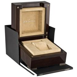 Zenith Men's 'El Primero' Black Dial Stainless Steel Chronograph Watch