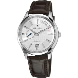 Zenith Men's 'Captain Elite' Silver Dial Power Reserve Automatic Watch