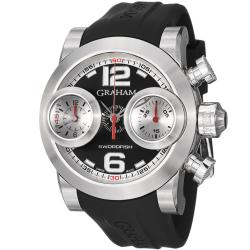 Graham Men's 'Swordfish' Black Dial Black Strap Automatic Watch