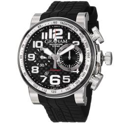 Graham Men's 'Silverstone' Black Dial Black Strap Automatic Watch