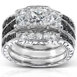 14k White Gold 1 7/8ct TDW Diamond 3-piece Bridal Ring Set (H-I, I1-I2)