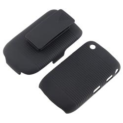 BasAcc Black Swivel Holster with Stand for Blackberry Curve 8520/ 8530