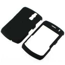 BasAcc Black Rubber Coated Case for Blackberry Curve 8300/ 8310/ 8320