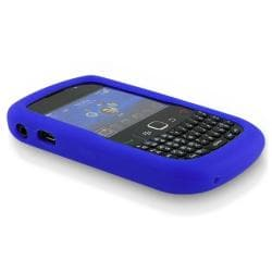 BasAcc Blue Silicone Skin Case for Blackberry Curve 8520/ 8530