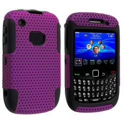 BasAcc Black/ Purple Hybrid Case for BlackBerry Curve 8520/ 9300