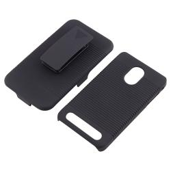 Black Snap-on Case/ Holster for Samsung Epic 4G Touch D710