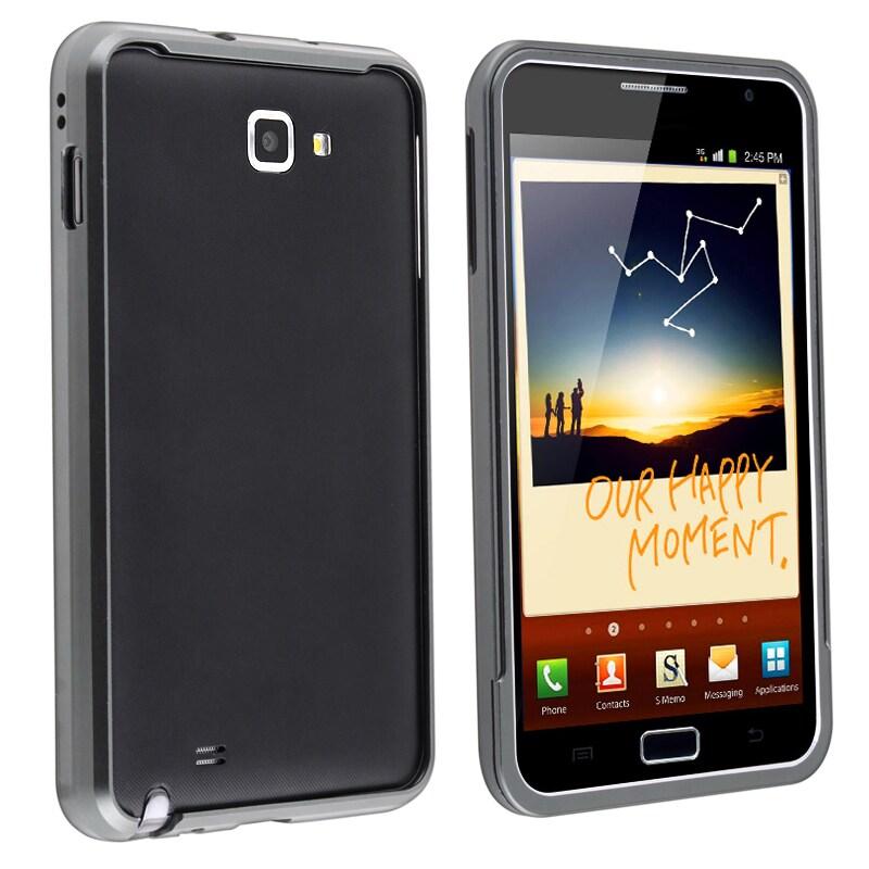 INSTEN Grey Metal Bumper for Samsung Galaxy Note N7000