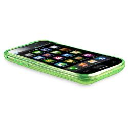 Clear Green Diamond TPU Rubber Skin Case for Samsung Galaxy S i9000