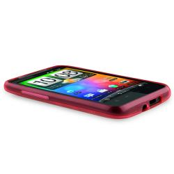 Pink Circle TPU Rubber Skin Case for HTC Desire HD