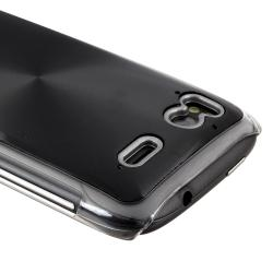 Black Brushed Aluminum Snap-on Case for HTC Sensation 4G