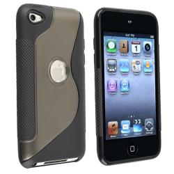 Frost Smoke/ Black S Shape TPU Case for Apple iPod Touch Generation 4