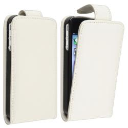 White Leather Case for Apple iPhone 4/ 4S