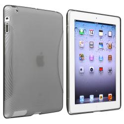 Clear Smoke Concentric Circle TPU Rubber Case for Apple iPad 2/ New