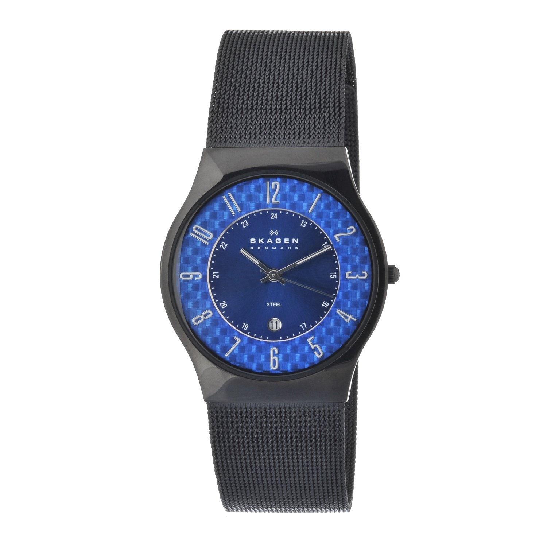 Skagen Men's Slim Blue Dial Watch
