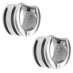 Stainless Steel Highly Polished Cuff Earrings