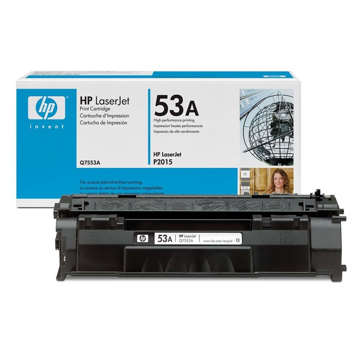 HP Q7553A 53A Black Toner Cartridge