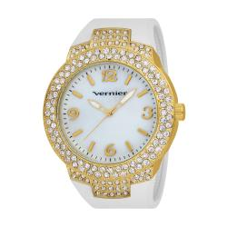 Vernier Women's V11073YGW Mother of Pearl Sparkle Bezel Watch