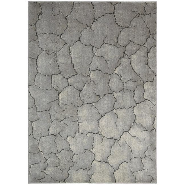 "Nourison Utopia Gray Abstract Area Rug (9'6"" x 13')"