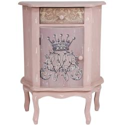 Distressed Royal Crown Philippine Mahogany End Table Cabinet (China)