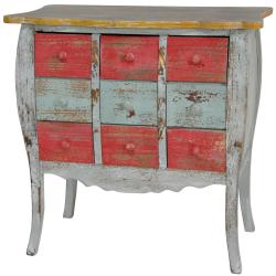 Distressed Nine-drawer Medicine Cabinet (China)