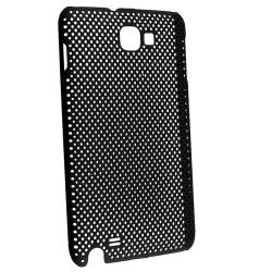 Black Meshed Rear Snap-on Case for Samsung Galaxy Note N7000/ i717