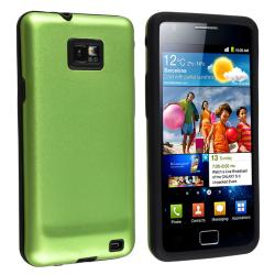 Black Skin/ Green Aluminum Hybrid Case for Samsung Galaxy S II i9100