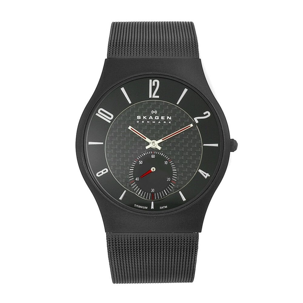 Skagen Men's Black Titanium Mesh Watch