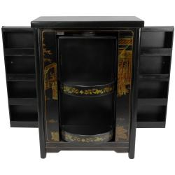 Oriental Home Black Lacquer Wine Cabinet (China)