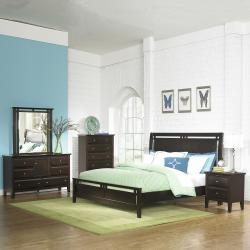 Ikle Rich Espresso Queen-size Transitional 5-piece Bedroom Set