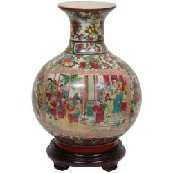 Oriental Home Porcelain 14-inch Rose Medallion Vase (China)