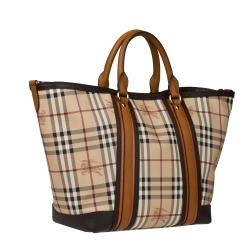 Burberry Beige/ Brown Tote Bag