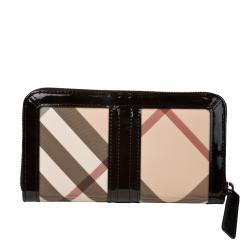 Burberry Women's Large Nova Check Wallet
