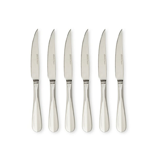 LeBrun French Cutlery Harmony Decor Stainless Steel Steak Knives (Set of 6)