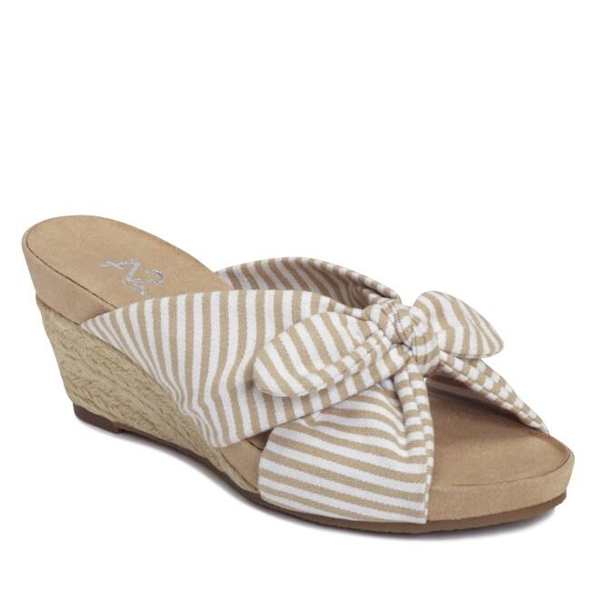 A2 by Aerosoles Women's 'Taillight' Tan Striped Espadrilles