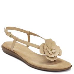 A2 by Aerosoles Women's 'Chloverleaf' Tan Flower Gladiator Sandals