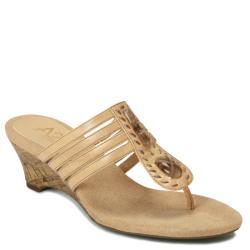 A2 by Aerosoles Women's 'Mound Cake' Tan Cork Heeled Sandals
