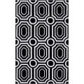angelo:HOME Hand-tufted Black Hudson Park Polyester Rug (8&#39; x 10&#39;)