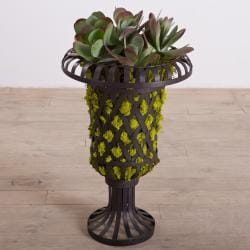 Woven Iron Strap Planter (India)
