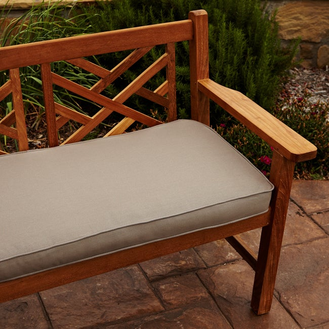 Clara Taupe 48 Inch Outdoor Sunbrella Bench Cushion Overstock Shopping Big Discounts On