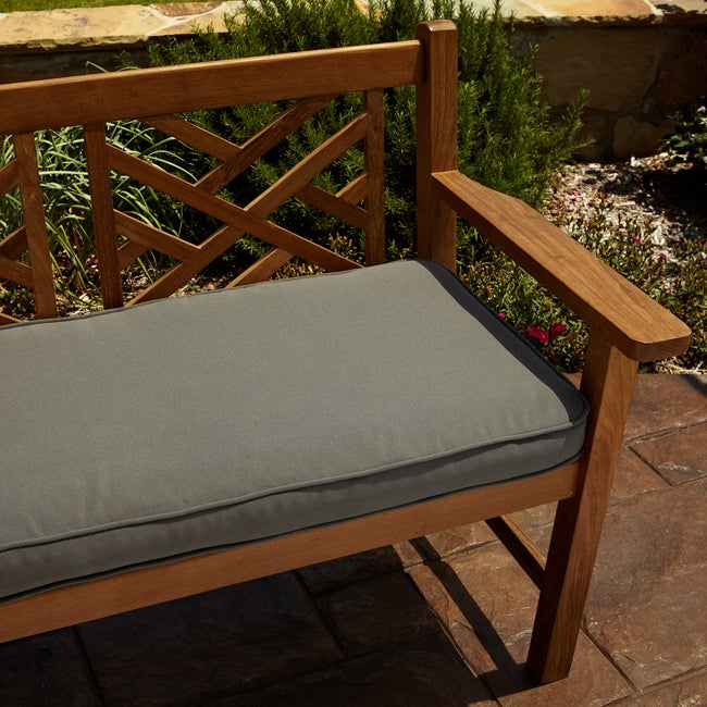 Clara Grey 48 Inch Outdoor Sunbrella Bench Cushion