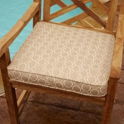 Clara Beige 19-inch Square Outdoor Sunbrella Chair Cushion