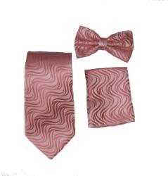 Ferrecci Men's Pink Vest Tie 4-piece Accessory Set