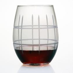Tartan Collection Stemless Wine Glasses (Set of 4)
