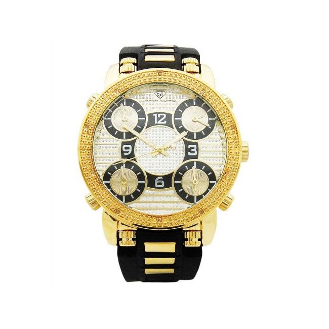 Joe Rodeo Men's Super Techno Diamond Watch
